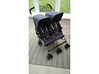 Maclaren Twin/Double Triumph Buggy with raincover