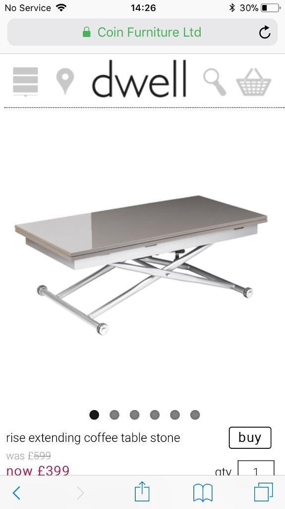 Dwell rise extending coffee table