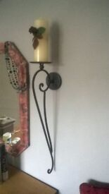 PAIR of Large metal wall sconces