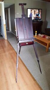 Wonderful Black-stained Folding French Easel