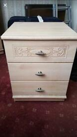 Bedside cabinet, LOCAL DELIVERY POSSIBLE.