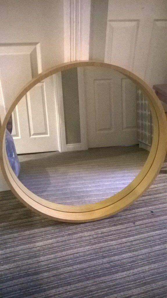 Round Oak Mirror Perfect Condition In Hillsborough
