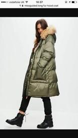 Coat fur hood