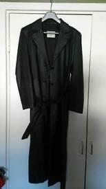 Full length leather Coat/jacket women's size 10 to 12 £20