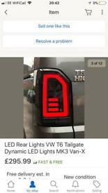 Vw transporter t6 led rear lights