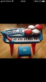 Chad Valley keyboard and stool