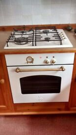 Gas Hob and electric oven