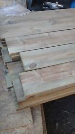 150mmx22mmx3.6m treated ranch boards