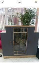 Artdeco, upcycled, wooden cabinet, cupboard, storage unit