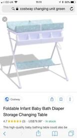Cotsway baby changing unit & bath