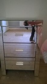B&M Mirrored 3 drawer for £70