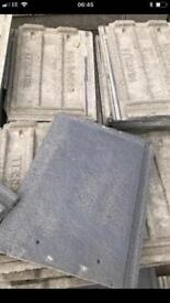 "Russell Grampian New grey roof tiles x 100 (17"" x 11.5"")"