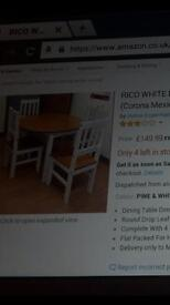 Drop leaf table and chairs brand new still in box
