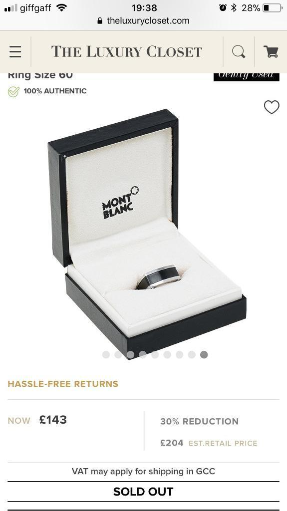 Montblanc men's ring with box