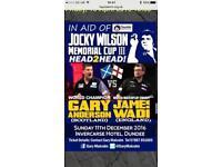 VIP tickets, Gary Anderson vs James Wade - Dundee 11/12/2016