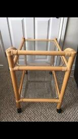 Bamboo and glass trolly