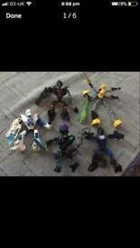 Lego hero factory figures.