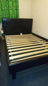 Faux leather Double bed