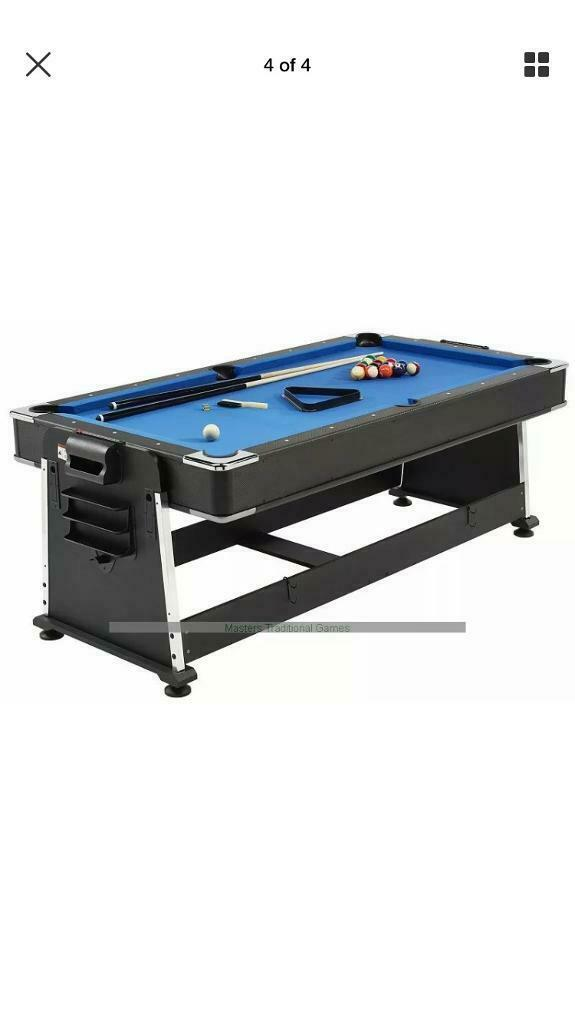 391d37820e6 7ft -3 in 1 revolver Pool  Air hockey and table tennis