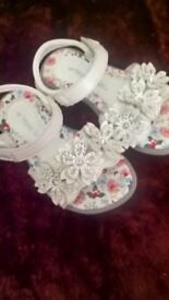 Size 6 girls white leather butterfly sandals