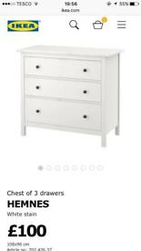 HEMNES chest of 3 drawer new