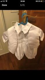 Boys christening suit 0-3 months