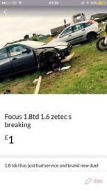 For focus breaking for parts