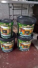 Cuprinol Ducksback Fence Paint.