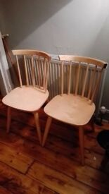 2 Beech Windsor Back Dining Chairs £20 ONO