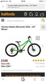 Voodoo bakka junior mountain bike cost £350