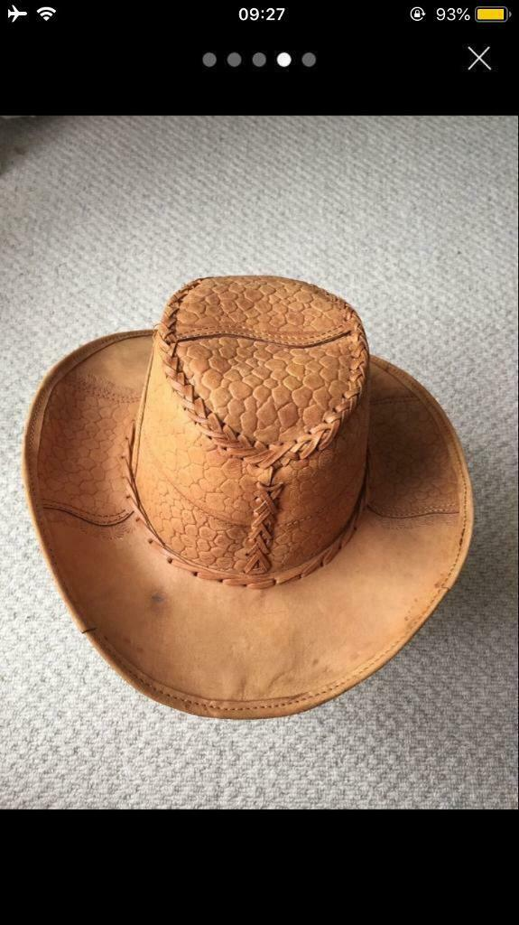 8b36fb597fd Harley Davidson brown leather hat