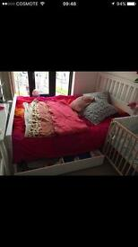 King Size ikea bed white