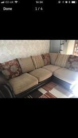 Corner fabric sofa