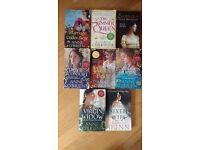 Historical romance books x8