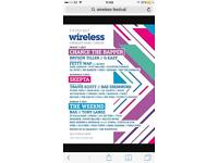 Wireless festival tickets - 7th July x2