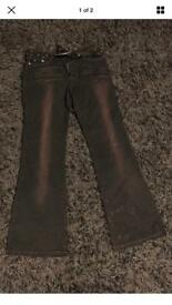 Ladies brown jeans new