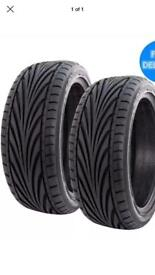 2x 225 40 18 TOYO T1R tyres BRAND NEW