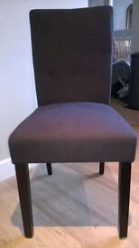 A pair of new 'Made' grey/blue chairs