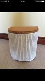 Lloyd loom laundry basket. £10.00
