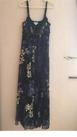 Stunning size 12 Monsoon chiffon 2 layer dress