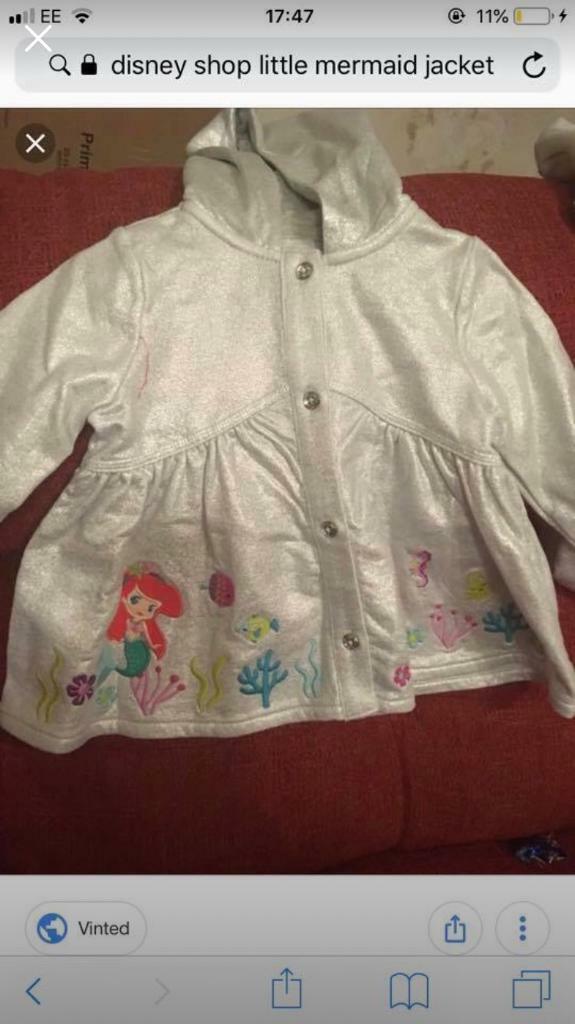 f0b848ee96849 Disney shop little mermaid coat. 9-12 months