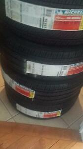 BRAND NEW WITH LABELS ULTRA HIGH PERFORMANCE MICHELIN ' V ' RATED 215 / 45 / 17 TIRE SET OF FOUR.