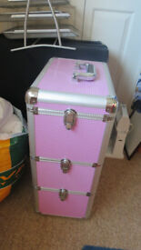 Pink metal storage unit