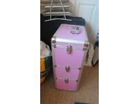 Pink metal storage unit