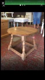 Priory oak 1979 round side table