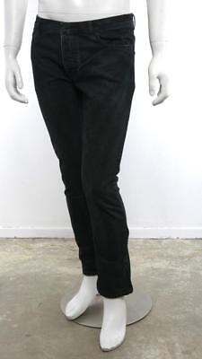 NICOLAS ANDREAS TARALIS Mens Dark Wash Denim Slim Straight Leg Jeans Pants 31