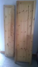 Pine wardrobe sides and 2 doors