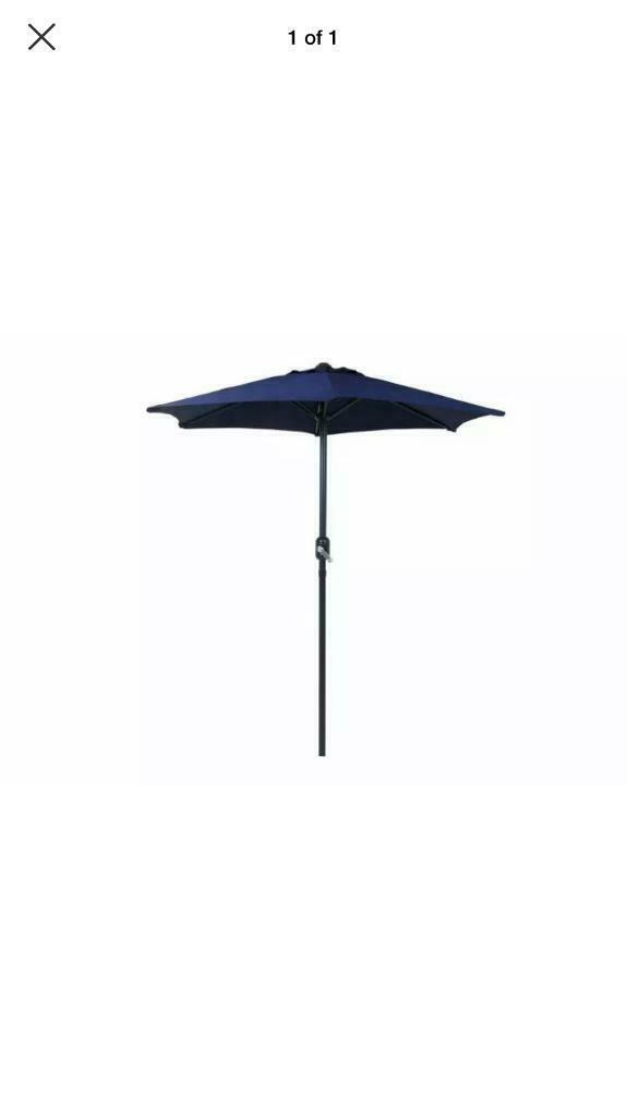 Astonishing Charles Bentley 2M Garden Patio Market Umbrella Parasol Crank Function Blue Condition Is New In Long Eaton Nottinghamshire Gumtree Short Links Chair Design For Home Short Linksinfo