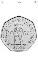 Rare battle of Hastings 50 p coin