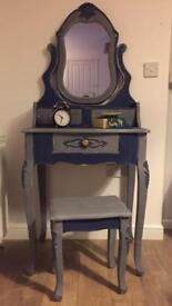 Vintage upcycled French style dressing table set